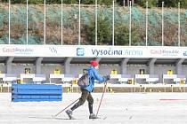 Milovníci bílé stopy mohou využít jednu z posledních příležitostí k lyžování. Na polích a loukách už není po sněhu téměř památky, zato Vysočina Arena ještě stále nabízí upravené běžkařské tratě.