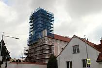 Věž kostela svatého Václava v Novém Veselí