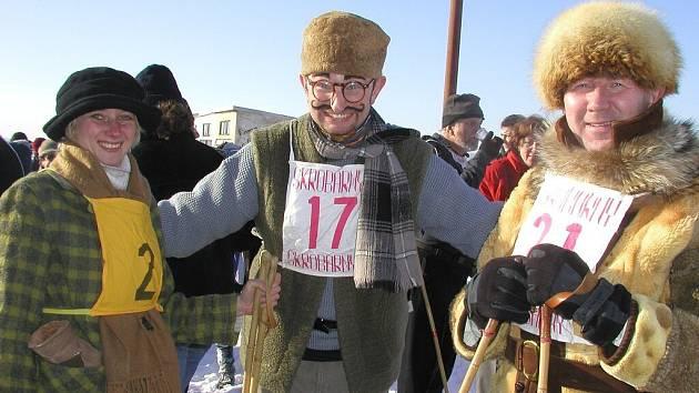 Běh na historických lyžích Skiman.