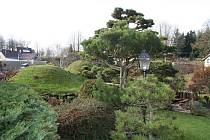 Originální japonská kamenná zahrada Pavla  Šimona ve Sněžném. Prohlédnout si ji mohou všichni zájemci.
