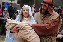 Příběh narození Ježíše Krista se i letos odehrál v Měříně.