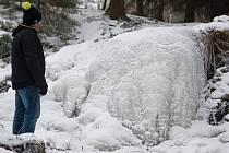 Vojnoměstecký zamrzlý vodopád.