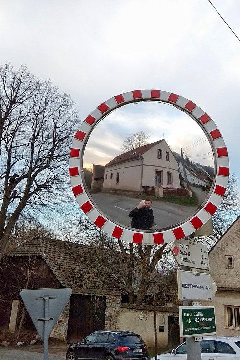Selfíčko cestou domů v Újezdě u Tišnova