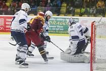 První semifinálové play-off utkání mezi HC Dukla Jihlava a Rytíři Kladno.