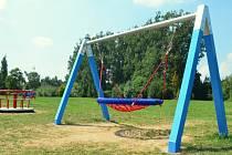 V parku na Farských humnech.