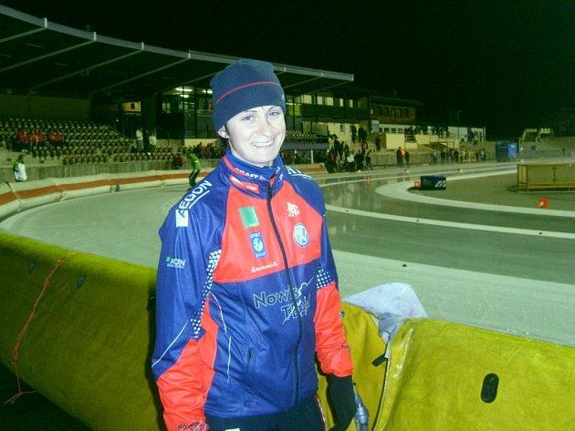 Martina Sáblíková na závodech v německém Inzellu.
