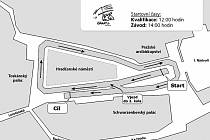 Plán závodu v Praze