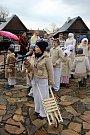 V bystřickém Edenu děti z folklorního souboru Borověnka vynášely Moranu a vystoupily s velikonočním pásmem.