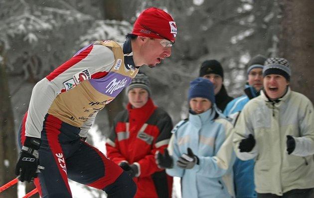 Lukáš Bauer při Tour de Ski v Novém Městě