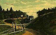 Železniční přejezd u Hesova.