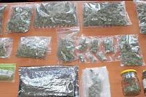 Při prohlídkách ve Žďáře nad Sázavou a v Tišnově našli policisté větší množství drogy, ale také několik rostlin a pomůcky pro jejich pěstování.