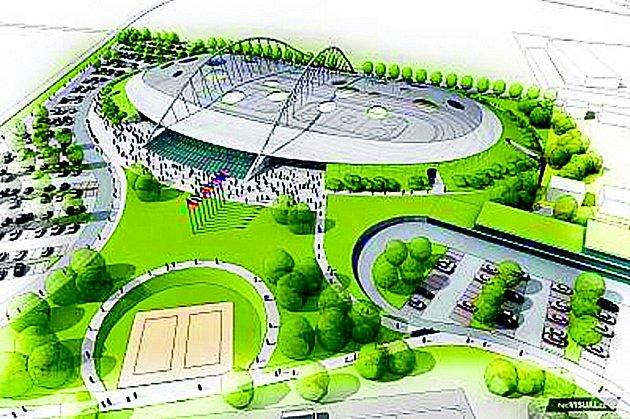 Takhle by měl vypadat po dokončení Národní bruslařský stadion ve Velkém Oseku.