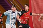 Z úvodního utkání extraligového play-out přivezlo Nové Veselí (v červeném) domů dva body z Hranic (v modrobílém).
