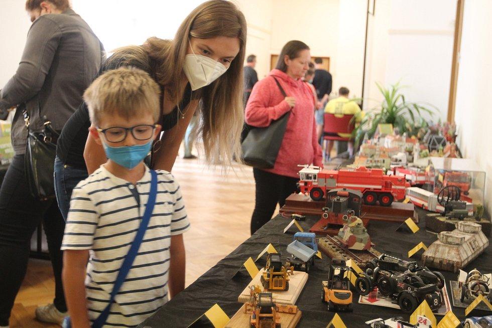 Iveta Vondráčková z Velkého Meziříčí zavítala na výstavu se synem.