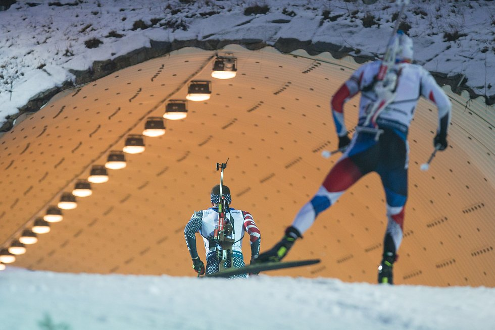 Závod SP v biatlonu (sprint 10 km muži) v Novém Městě na Moravě.