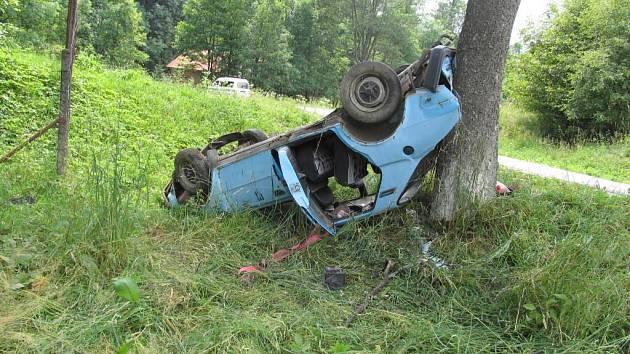 Z nehody u Jimramova...