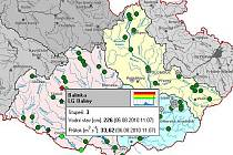 Na Balince byl v pátek vyhlášen třetí povodňový stupeň.