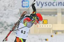 Po sprintu juniorů a juniorek se dnes představí ve Vysočina areně dospělí. Ženy odstartují svůj závod v 9.30, muži (na snímku Lukáš Kristen) od 12.45.