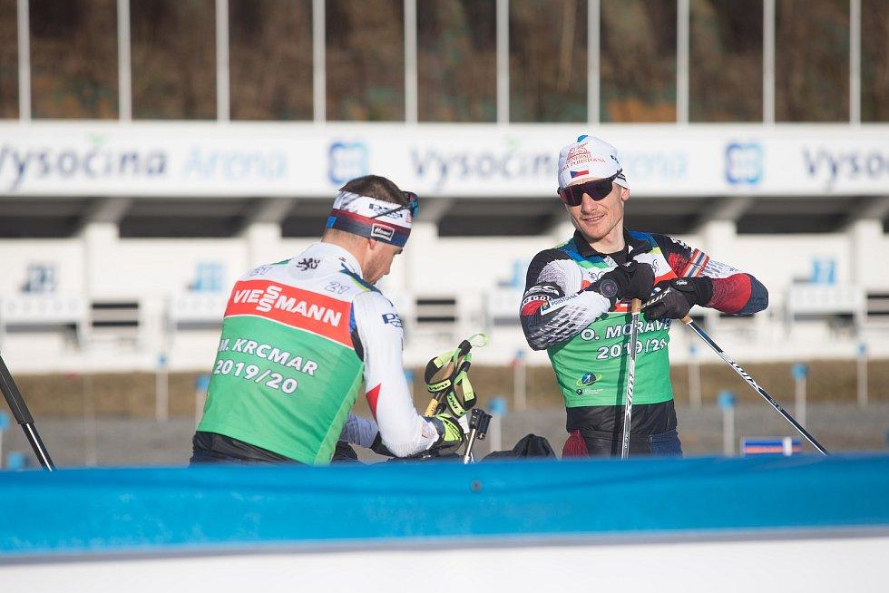 Trénink můžu na Světovém poháru v biatlonu v Nové Městě na Moravě. Na snímku: Ondřej Moravec.