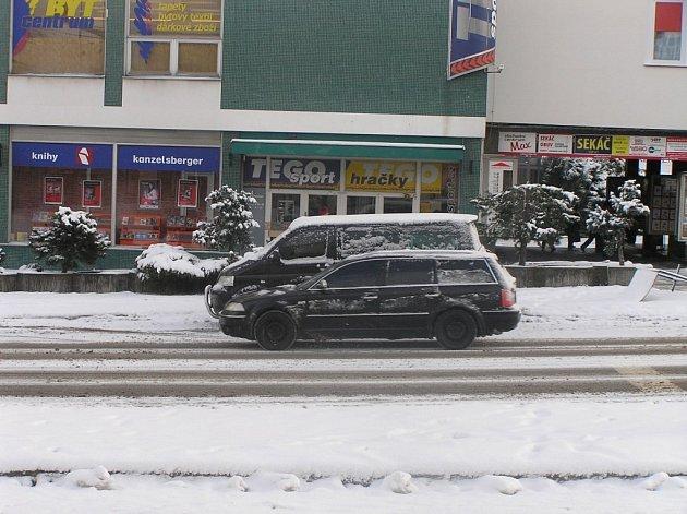 Sněhová nadílka ve Žďáře nad Sázavou