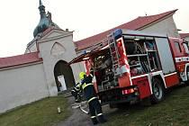 Jednotky sborů dobrovolných hasičů cvičily na Zelené hoře.