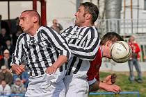 Žďárští fotbalisté v Blansku v 21. kole nakonec nenastoupili. Zápas se musí dohrát v náhradní termínu prvního května. Ilustrační foto.