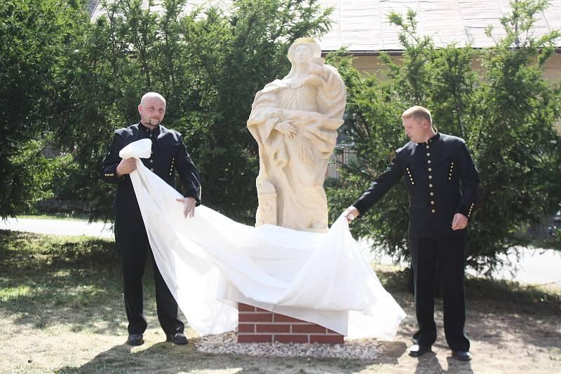 Svatá Barborka dostala ve strážku nový podstavec, umístění i vizáž.