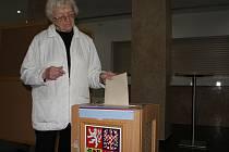 Z voleb v Bystřici nad Pernštejnem v pátek 10. října 2014.