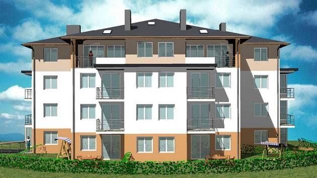 Nové vila domy vzniknou v lokalitě Klafar II. Jedná se o čtyřpatrové nadstandardní bytové komplexy.
