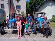 """Škrdlovický fanoušek starých traktorů Martin Havelka ve čtvrtek úspěšně dorazil na sraz historických traktorů v přímořském městečku Łazy v Polsku. 800 kilometrů dlouhá cesta mu trvala čtyři dny. """"Dojel jsem o den dřív, než bylo v plánu, celá cesta probíha"""