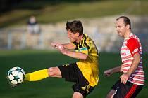 Fotbalové utkání mezi AFC Humpolec a SK Tatran Žďírec nad Doubravou.