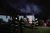 Oheň zachvátil v úterý navečer rodinný dům v Moravských Křižánkách.