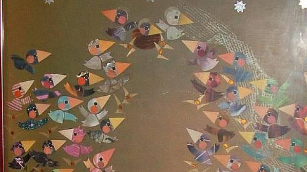 Ptačí betlém vyrobil Jaromír Čejka.