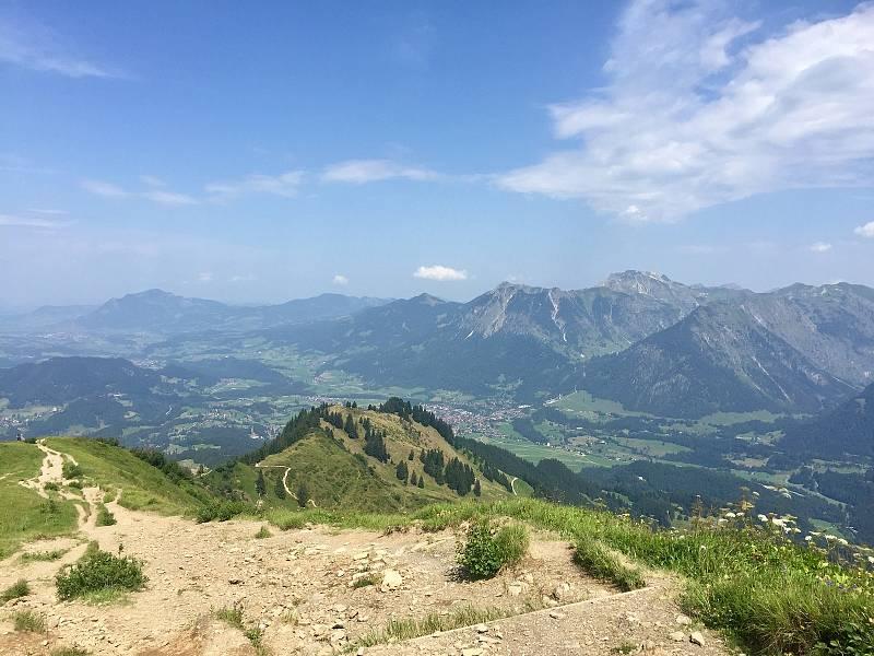 Klesání k Oberstdorfu