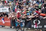Jan Škarnitzl v závodu SP v cross country horských kol v Novém Městě na Moravě v kategorii mužů Elite.