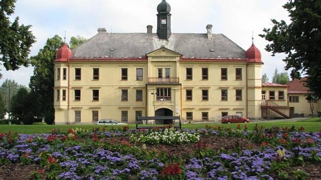 Zámek Mitrovských, ve kterém je dnes škola, doplňuje anglický park. Lesopark Templ s romantickými objekty leží o kus dál na severovýchodním okraji obce, umělá ruina v lese Jivina zase na jihozápadním konci Dolní Rožínky.