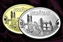 Na štítcích je vyobrazen kostel ve Vítochově a zřícenina hradu Zubštejna.