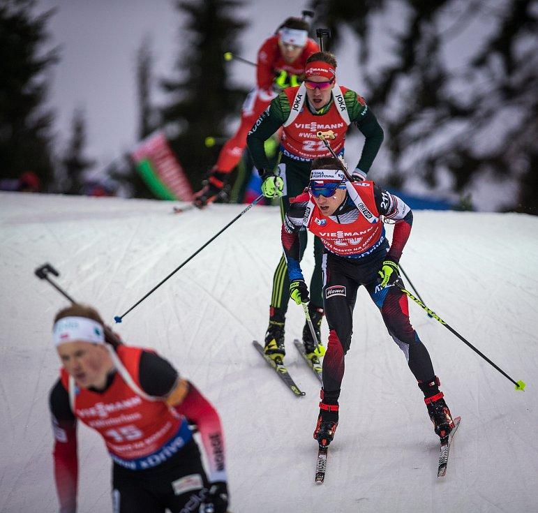 Stíhací závod mužů na 12.5 km v rámci Světového poháru v biatlonu.