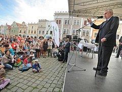 Prezident Zeman navštívil Telč.