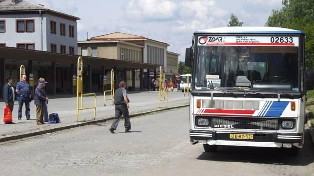 Autobusové nádraží ve Žďáře.