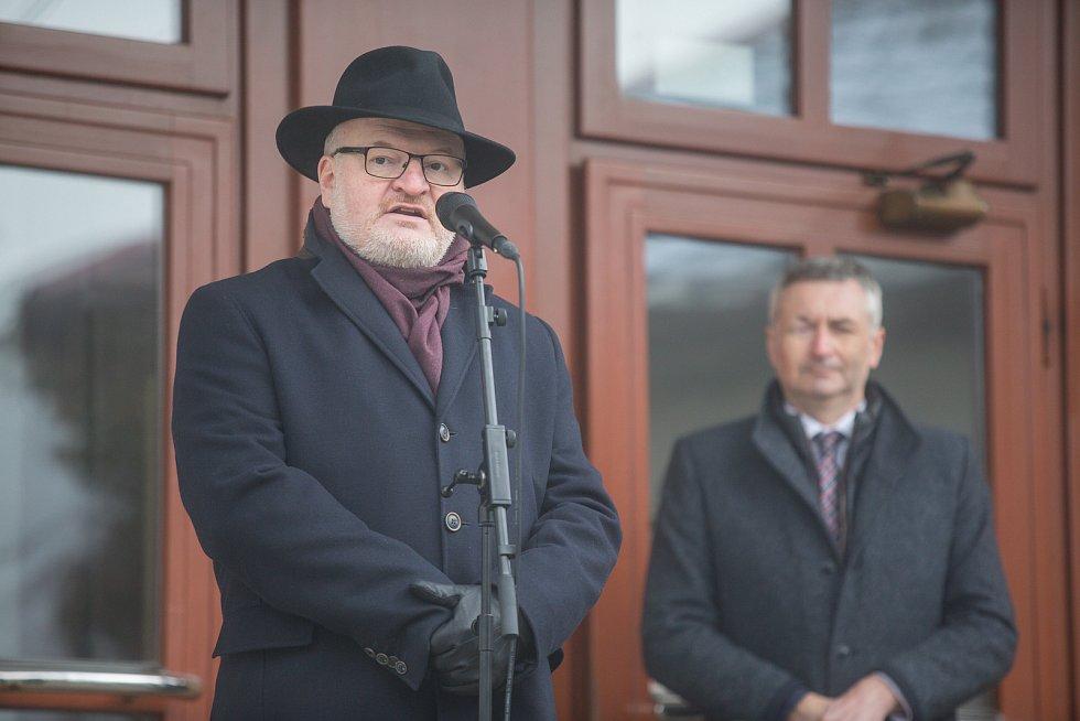 Slavnostní otevření ulice Bradyových v Novém Městě na Moravě.  Na snímku Daniel Herman.