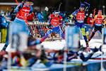 Závod Světového poháru v biatlonu ve smíšené štafetě dvojic.