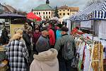 Vánoční trhy 2019 v centru Žďáru.