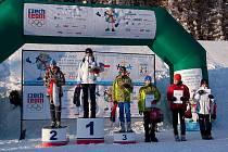 Zlatou medaili vybojovala na Hrách V. zimní olympiády dětí a mládeže ČR i biatlonistka Eliška Teplá.