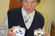 František Jež ze Žďáru nad Sázavou se o motýly začal zajímat před šesti lety. Ve sbírce tohoto hmyzu čítající asi 500 kusů mají své místo také modrásci.