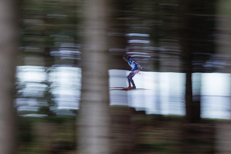 Závod Světového poháru v biatlonu v závodu sprintu žen na 7,5 km.