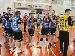 Nakonec vcelku úspěšnou sezonu prožívají extraligoví házenkáři Nového Veselí (na snímku). V Českém poháru došli až do lednového Final four, kde vybojovali fantastické třetí místo, v nejvyšší soutěži se s předstihem zachránili.