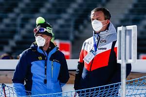 Jiří Hamza při závodu Světového poháru v biatlonu v Novém Městě na Moravě.