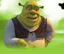 Kreslená postavička Shrek.