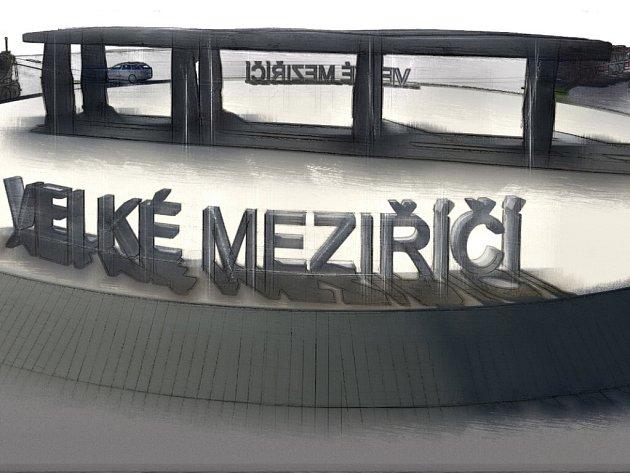 Dálniční most ve Velkém Meziříčí je jednou z místních dominant. Podle autora vítězného návrhu Františka Dvořáka není na kruhovou křižovatku vhodnější skulptura.